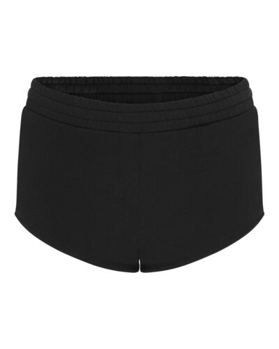 Black Slim-fit Shorts for women